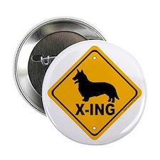 """Corgi X-ing 2.25"""" Button (10 pack)"""