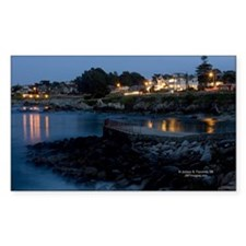 Monterey at Dusk Rectangle Decal