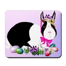 Black and White Easter Bunny Mousepad