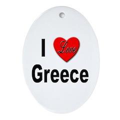 I Love Greece Keepsake (Oval)