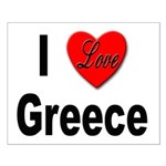 I Love Greece Small Poster
