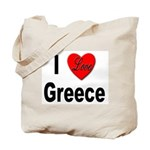 I Love Greece Tote Bag