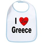 I Love Greece Bib