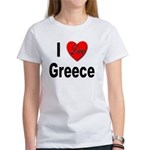 I Love Greece Women's T-Shirt