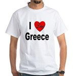 I Love Greece (Front) White T-Shirt
