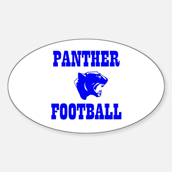 Panther Football Oval Decal