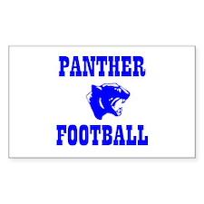 Panther Football Rectangle Decal