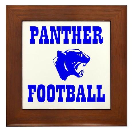 Panther Football Framed Tile