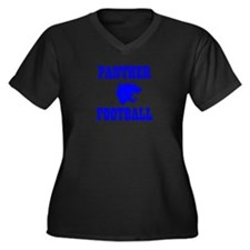 Panther Football Women's Plus Size V-Neck Dark T-S