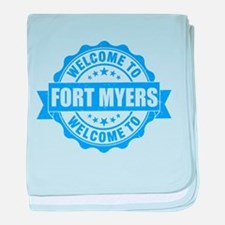 Summer fort myers- florida baby blanket