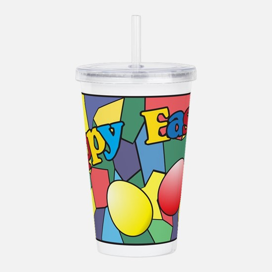 Easter Stained Glass W Acrylic Double-wall Tumbler