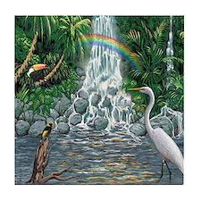 Rainforest Waterfall Tile Coaster