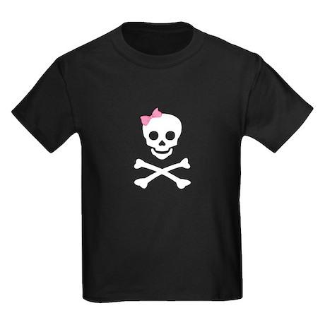 little (girl) pirate Kids Dark T-Shirt