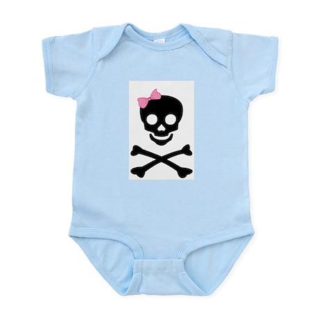 little (girl) pirate Infant Bodysuit