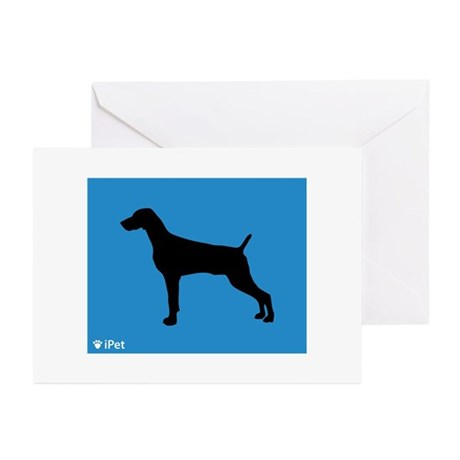 Weimaraner iPet Greeting Cards (Pk of 10)
