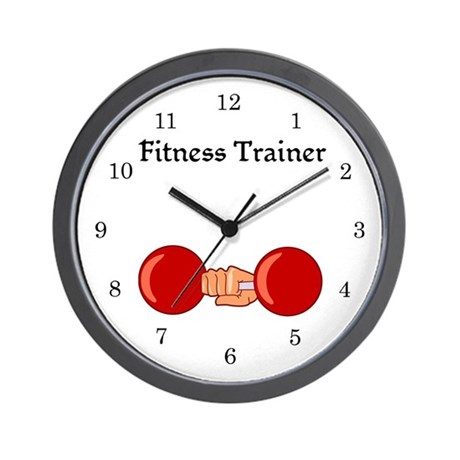 Fitness Trainer Wall Clock
