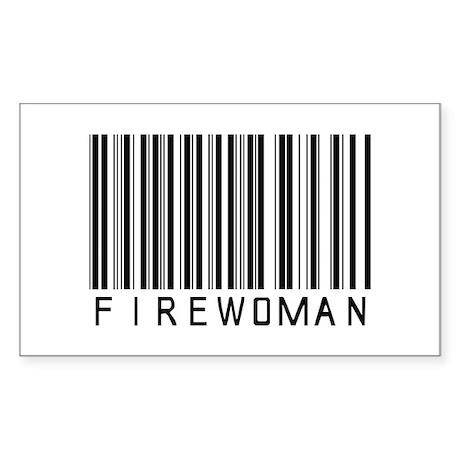 Firewoman Barcode Rectangle Sticker