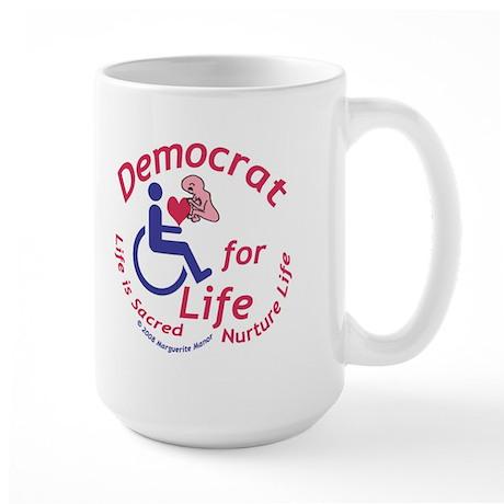 Democrat for Life Large Mug