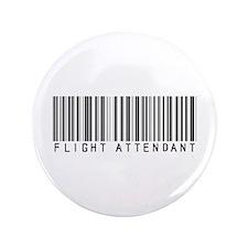 """Flight Attendant Barcode 3.5"""" Button"""
