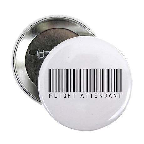 """Flight Attendant Barcode 2.25"""" Button (10 pack)"""