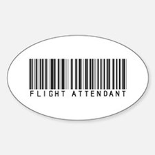 Flight Attendant Barcode Oval Decal