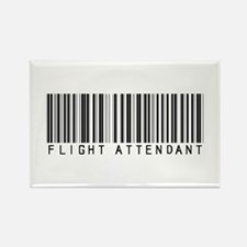 Flight Attendant Barcode Rectangle Magnet