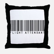 Flight Attendant Barcode Throw Pillow