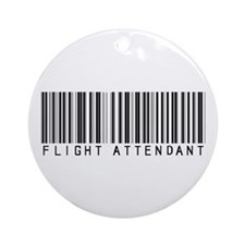 Flight Attendant Barcode Ornament (Round)