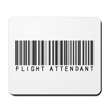 Flight Attendant Barcode Mousepad