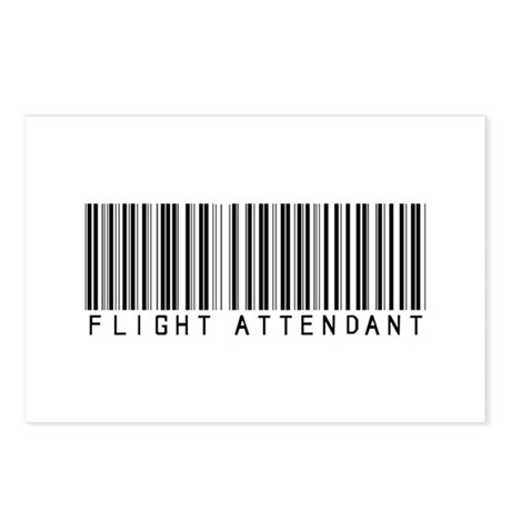 Flight Attendant Barcode Postcards (Package of 8)