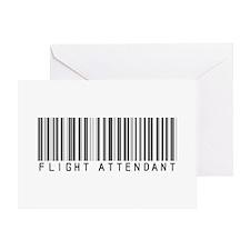 Flight Attendant Barcode Greeting Card