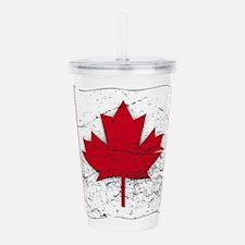Wavy Canadian Flag Gru Acrylic Double-wall Tumbler