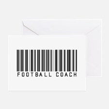 Football Coach Barcode Greeting Card