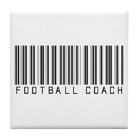 Football Coach Barcode Tile Coaster
