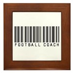 Football Coach Barcode Framed Tile