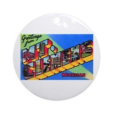 Mt. Clemens Michigan Greetings Ornament (Round)