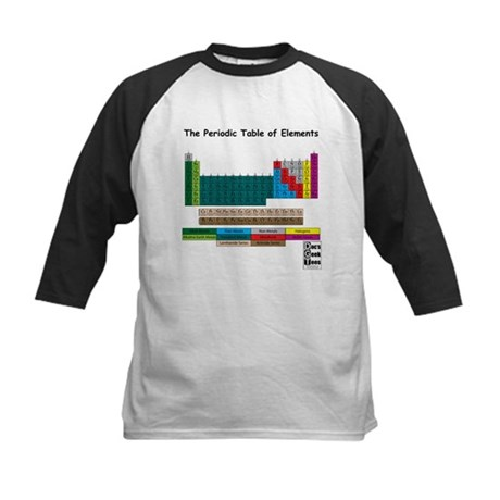 Color Coded Periodic Table Kids Baseball Jersey