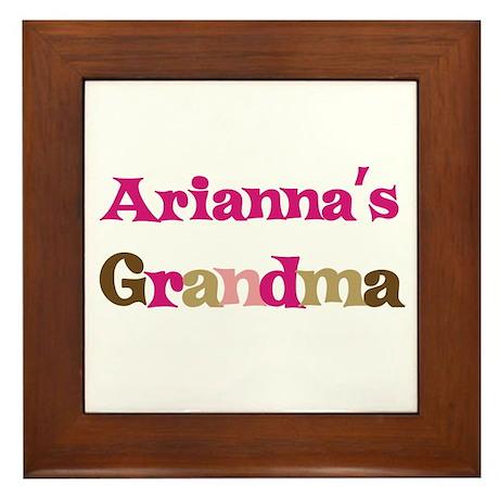 Arianna's Grandma Framed Tile