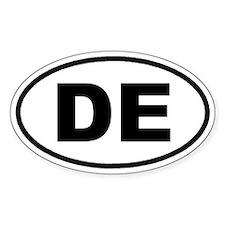 DE Delaware Euro Oval Decal