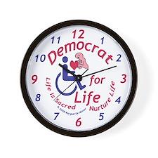 Democrat for Life Wall Clock