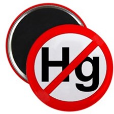 """No Hg"" (Mercury) 2.25"" Magnet (10 pack)"