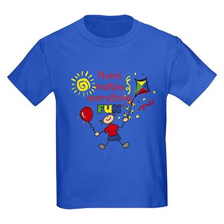 Nonni Fun Boy Kids Dark T-Shirt