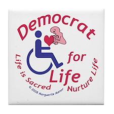 Democrat for Life Tile Coaster