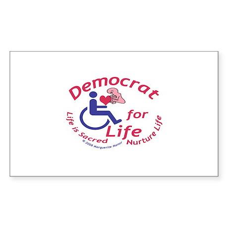 Democrat for Life Rectangle Sticker