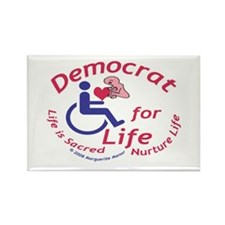 Democrat for Life Rectangle Magnet