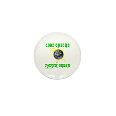 THINK GREEN Mini Button (10 pack)