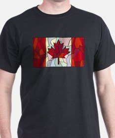 Canadian Stained Glass Window T-Shirt