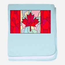 Canadian Stained Glass Window baby blanket