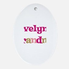 Evelyn's Grandma Oval Ornament