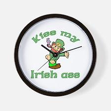Kiss My Irish Ass Wall Clock